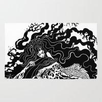 the little mermaid Area & Throw Rugs featuring Little mermaid by Ircadelik