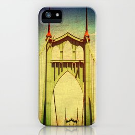 St. John's Bridge Portland Oregon iPhone Case