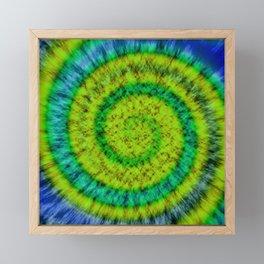 Tie Dye // Fiddlehead Ferns Framed Mini Art Print