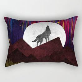 Wolf XOX Rectangular Pillow