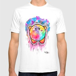 Cute Galaxy KIRBY - Watercolor Painting - Nintendo T-shirt