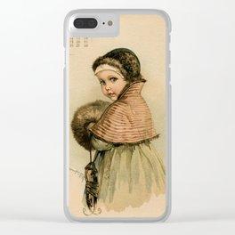 Scandinavian Girl Maud Humphrey Clear iPhone Case