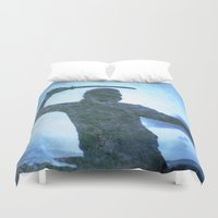 samurai Duvet Covers featuring Samurai by Deprofundis