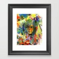 Girl with fruits. Framed Art Print