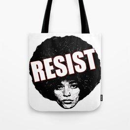 Angela Davis - Resist (black version) Tote Bag