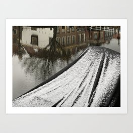 First snow in front of my house Art Print