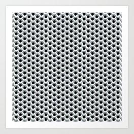 Hex shadow pattern  Art Print