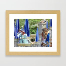 Ariel, Eric and Beast Framed Art Print