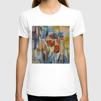 tulips T-shirts featuring Tulips by Michael Creese