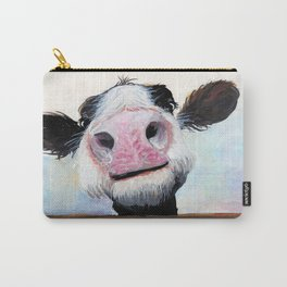 Nosey Cow ' HEY! HOW'S IT GOIN'? ' by Shirley MacArthur Carry-All Pouch