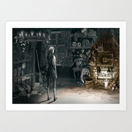 Hansel and Gretel and the Witch Art Print