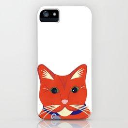 Cute Ginger Cat iPhone Case