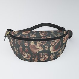 Carnivore RED MEAT / Animal skull illustrations from the top of the food chain Fanny Pack