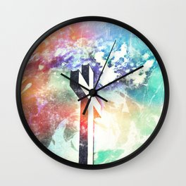 Holy Cross Pastel Distressed Wall Clock