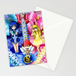 Sailor Mew Guitar #20 - Sailor Mercury & Mew Berry Stationery Cards