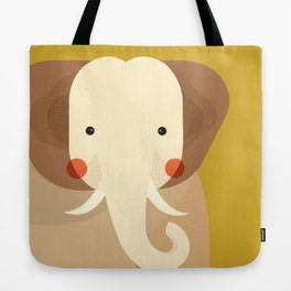 Elephant, Animal Portrait Tote Bag