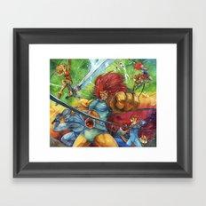 thunder, Thunder, THUNDER Framed Art Print