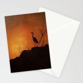Night silhouette Stationery Cards