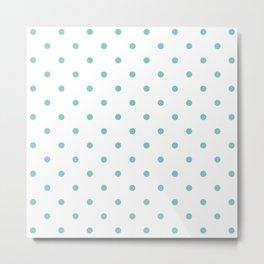 Chalky Blue Small Polka Dots Metal Print