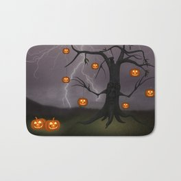 SCARY HALLOWEEN TREE Bath Mat