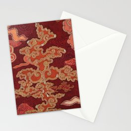 Crimson Clouds Stationery Cards