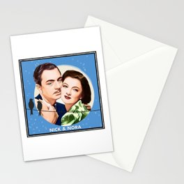 Nick and Nora Full Moon and Love Birds Stationery Cards
