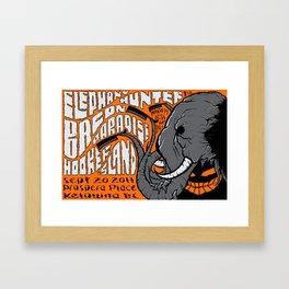 Elephant concert poster Framed Art Print