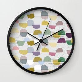 scandinavian pattern abstract No. 8 soft colours Wall Clock