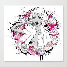 RING OF ROSES GRAFFITI Canvas Print