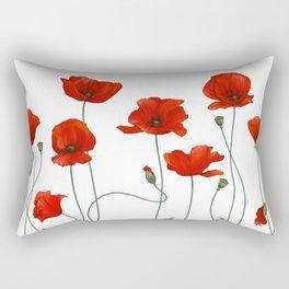 Poppy Stems Rectangular Pillow