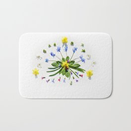 Spring flowers and branches II Bath Mat