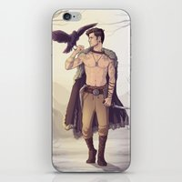 warrior iPhone & iPod Skins featuring Warrior by brightfallenstars
