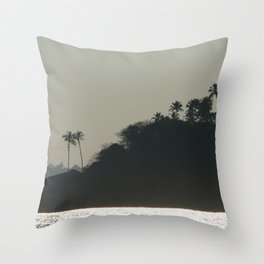 Palm Trees on Monkey Island Throw Pillow