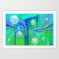 bubbles Art Prints featuring Bubbles by Roger Wedegis