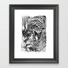 Fronds + Foliage Framed Art Print