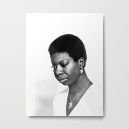 BLM Eunice Kathleen Waymon - Society6 Online Black Is Beautiful Photography Nina Simone Home Art  67 Metal Print