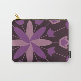Purple Flower Explosion Carry-All Pouch