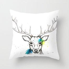 Stag I Throw Pillow