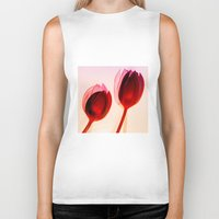 tulips Biker Tanks featuring Tulips by Julia Tomova