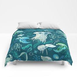Aqua pattern Comforters