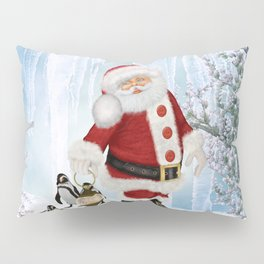 Santa Claus with funny penguin Pillow Sham