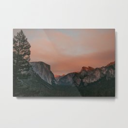 Yosemite National Park Sunset Metal Print