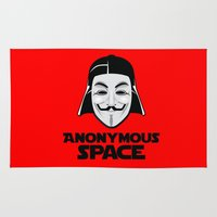 anonymous Area & Throw Rugs featuring Anonymous by Tony Vazquez