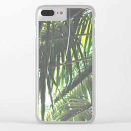 Faded Palm Jungle Clear iPhone Case