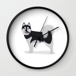 Alaskan Klee Kai Wall Clock