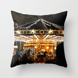 Carousel in Piazza Navona, Rome | Evening light | Travel photography | Italy Art Print Throw Pillow