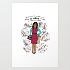 Mindy Kaling the Imaginary Best Friend Art Print
