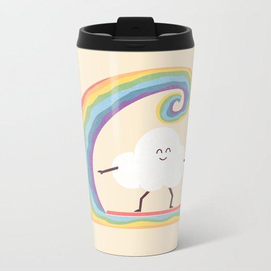 Rainbow Surf Metal Travel Mug