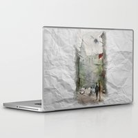street art Laptop & iPad Skins featuring Street by Baris erdem