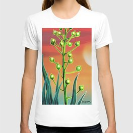 Wild plant at sunset T-shirt